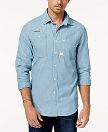 G-Star RAW Men's Chambray Shirt, Created for Macy's