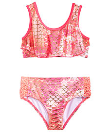 Penelope Mack Little Girls 2-Pc. Printed Flounce Bikini