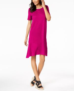 Eileen Fisher Hemp Organic Cotton Asymmetrical-Hem Dress 6283680