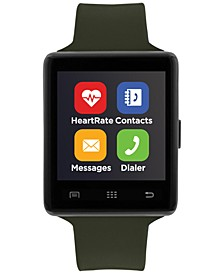 Unisex Air 2 Olive Silicone Strap Bluetooth Smart Watch 45mm
