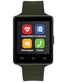 iTouch Unisex Air 2 Olive Silicone Strap Bluetooth Smart Watch 45mm