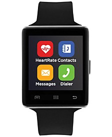Unisex Air 2 Black Silicone Strap Bluetooth Smart Watch 45mm