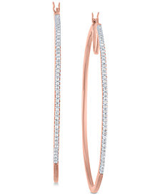 Diamond Hoop Earrings (1/2 ct. t.w.) in 14k Rose Gold-Plated Sterling Silver