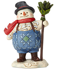 Jim Shore Pint Sized Snowman with Suspenders