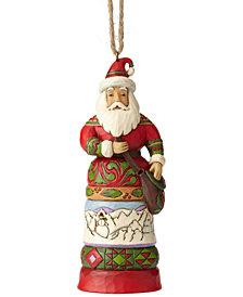 Jim Shore Santa with Satchel Ornament