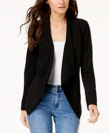 Draped Open-Front Blazer, In Regular & Petite Sizes