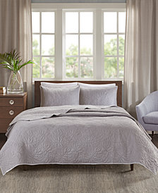 Madison Park Grand Isle Reversible 3-Pc. Quilted Full/Queen Coverlet Set