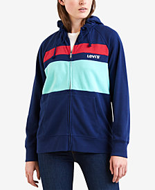 Levi's® Striped Zippered Hoodie