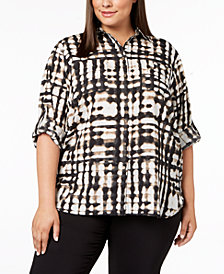 Calvin Klein Plus Size Printed Tunic Shirt