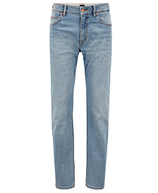 BOSS Men's Relaxed-Fit Stretch Denim Jeans