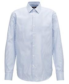 BOSS Men's Two-Tone Striped Cotton Shirt