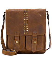Patricia Nash Burnished Suede Armeno Crossbody Messenger