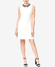 Betsey Johnson Imitation-Pearl-Collar Dress