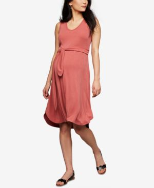 Image of A Pea In The Pod Maternity Belted Dress