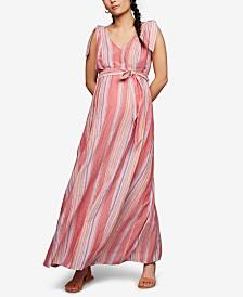 A Pea In The Pod Maternity Cotton Maxi Dress