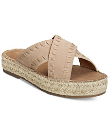 Aerosoles Rose Gold Espadrille Slide Sandals