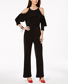 Thalia Sodi Cold-Shoulder Jumpsuit, Created for Macy's
