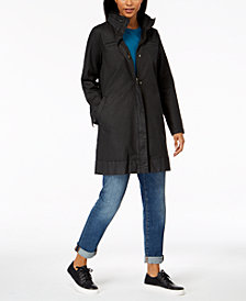 Eileen Fisher Hidden-Hood A-Line Jacket