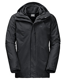 Jack Wolfskin Men's Iceland 3-in-1 Hooded Full-Zip Jacket from Eastern Mountain Sports