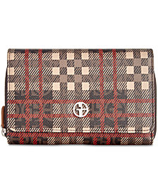 Giani Bernini Plaid Logo Crossbody Wallet, Created for Macy's