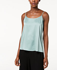 Eileen Fisher Silk Adjustable Scoop-Neck Camisole
