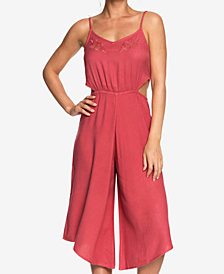Roxy Juniors' Waterfall Reflect Cutout Jumpsuit
