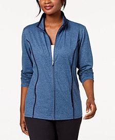 Karen Scott Zip-Front Space-Dye Jacket, Created for Macy's