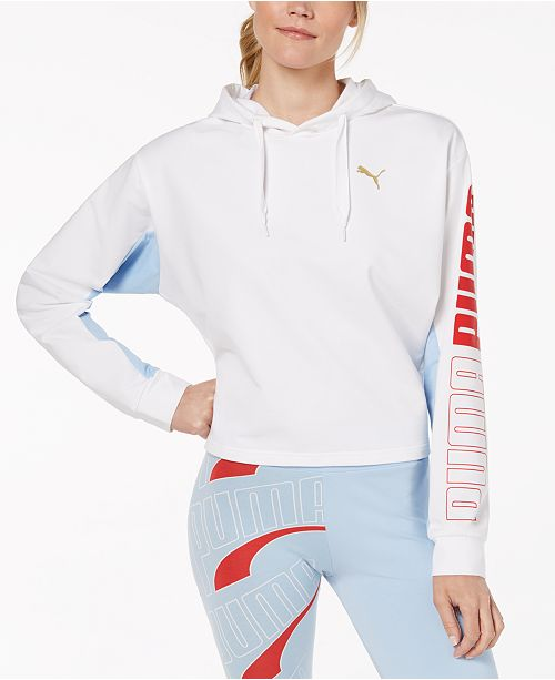 856972820045 Puma Modern Sport dryCELL Cropped French Terry Hoodie ...