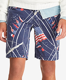 "Polo Ralph Lauren Men's Big & Tall Classic Fit Americana 10"" Shorts"