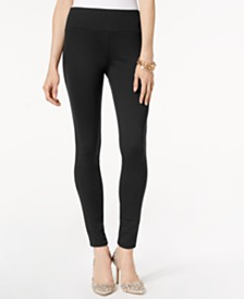 I.N.C. Petite Curvy-Fit Ponté-Knit Pants, Created for Macy's
