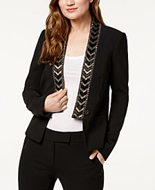 Rachel Zoe Mya Beaded-Lapel Jacket
