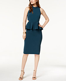 Rachel Zoe Side Cutout Karyn Peplum Dress