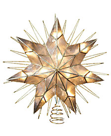 Kurt Adler 7-Point Natural Capiz Lighted Star Tree Topper