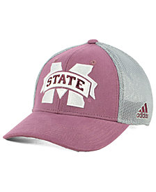 adidas Mississippi State Bulldogs Faded Flex Stretch Fitted Cap