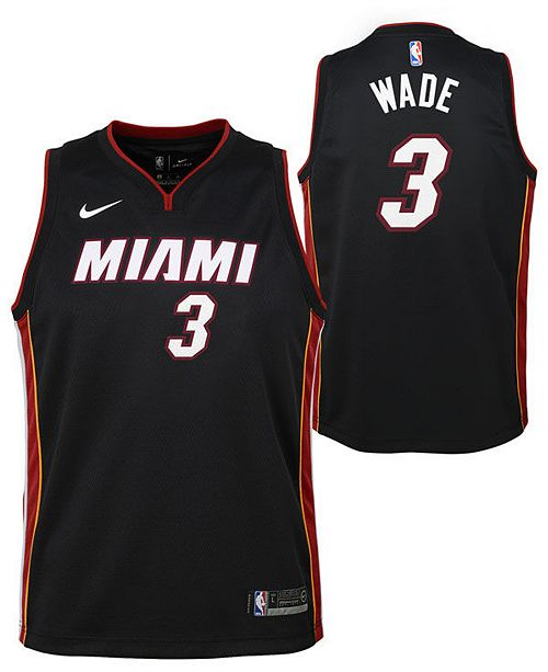 new style 54627 9bd75 Dwyane Wade Miami Heat Icon Swingman Jersey, Big Boys (8-20)