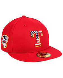New Era Texas Rangers Stars and Stripes 59FIFTY Fitted Cap