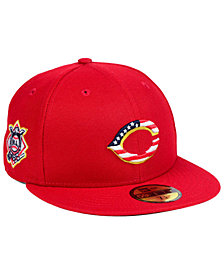 New Era Boys' Cincinnati Reds Stars and Stripes 59FIFTY Fitted Cap