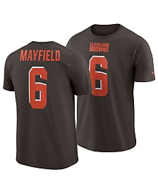 Nike Men's Baker Mayfield Cleveland Browns Pride Name and Number Wordmark T-Shirt
