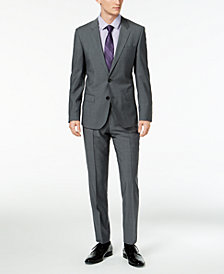 HUGO Men's Slim-Fit Dark Gray Suit