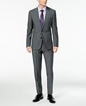 694f4d0ca45 HUGO Men s Slim-Fit Dark Gray Suit