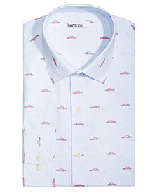 Bar III Men's Slim-Fit Stretch Easy-Care Car Print Dress Shirt, Created for Macy's