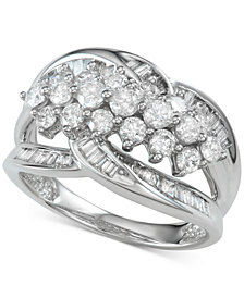 Diamond Cluster Statement Ring (1-1/2 ct. t.w.)