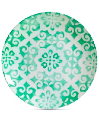 CLOSEOUT! Aqua Geo Dinner Plate, First at Macy's