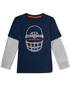 adidas Toddler Boys Layered-Look Helmet-Print Cotton T-Shirt