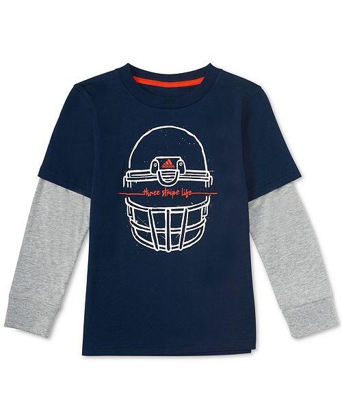 Look Adidas Layered Boys Print Katoenen Little T shirt Helm vnwN8Om0