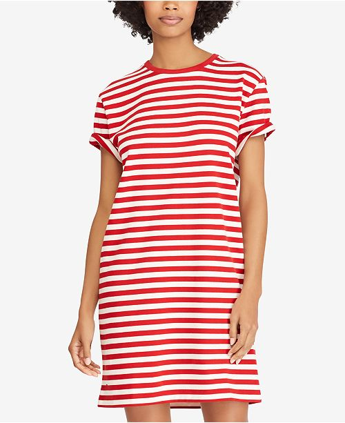 3f4e925c11b Polo Ralph Lauren Cotton Striped Dress   Reviews - Dresses ...