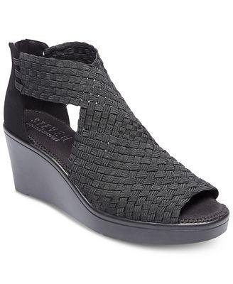 STEVEN Ace Woven Wedge Sandals