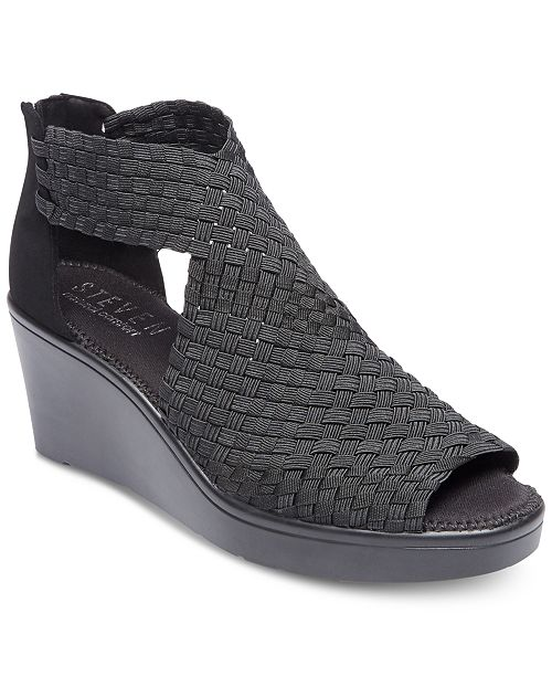 f19d82d1d6e STEVEN by Steve Madden Women's Ace Woven Wedge Sandals ...