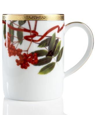 main image  sc 1 st  Macy\u0027s & Charter Club Dinnerware Holly Berry Round Mug Fine China - Macy\u0027s