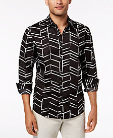 Alfani Men's Chevron-Print Shirt, Created for Macy's